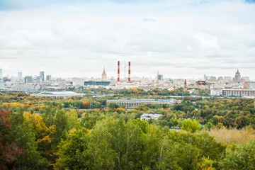 View of central Moscow from. Moscow, Russia