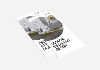 Brochure Layout With Dark Yellow Accents