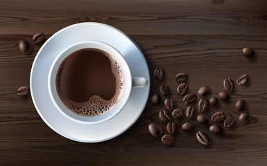 coffee, caffeine, cafétéria, tasse, arrière-plan, drink, brown