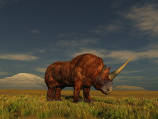3d illustration of a Siberian unicorn