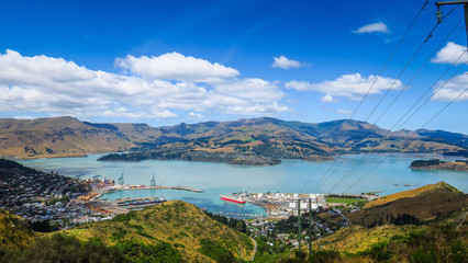 Christchurch Gondola and Mount Pleasant in New-Zealand