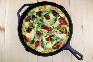 Mozzarella, Basil & Zucchini Frittata