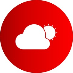 Vector Sun And Cloud Icon