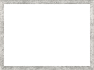 retro picture frame with white background with Free Space for Text / Pictures isolated