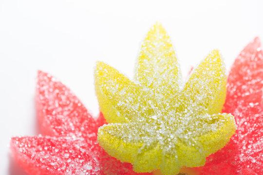 Weed Leaf Gummies Macro