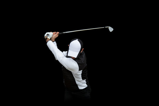 Golf swing fondo negro
