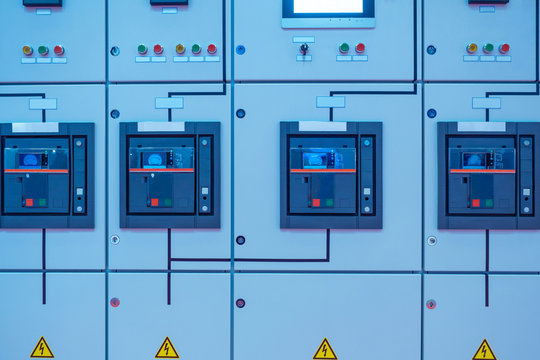 Electrical panel. Low voltage device. Electrical equipment. Power supply. Electro substation. Power net.