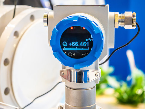 Water flow sensor. Water meter. Accounting for water consumption. Water supply. Ecology of resource consumption.