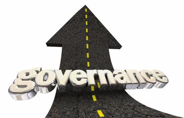 Governance Accountability Oversight Arrow Word 3d Illustration