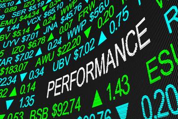 Performance Business Revenue Earnings Stock Market 3d Illustration