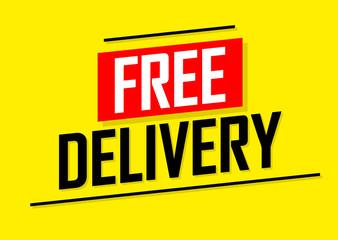 Free Delivery, banner design template, sale tag, vector illustration