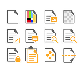 Document Page Edit File Option Icon