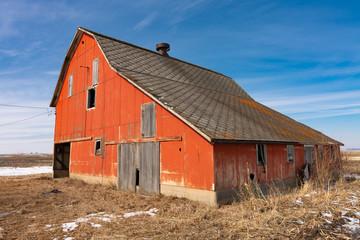 Vintage orange barn