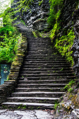 stairs at Watkins Glen State Park in New York