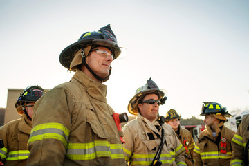 Fire fighter at work
