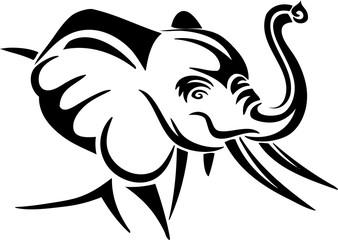 Elephant - Tribal Tattoo Design