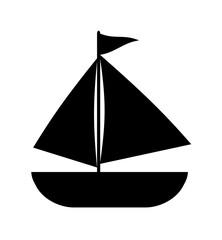 ヨットのシルエット