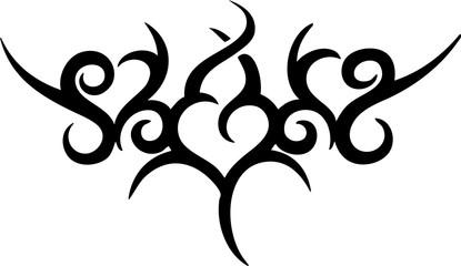 Tribal Hearts Lowerback Tattoo Design