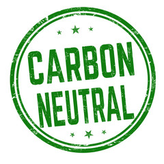 Carbon neutral sign or stamp