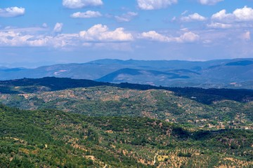 beautiful panoramic landscape of the earth
