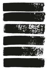 Paint Brush Medium Lines High Detail Abstract Vector Background Set 103