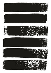 Paint Brush Medium Lines High Detail Abstract Vector Background Set 101