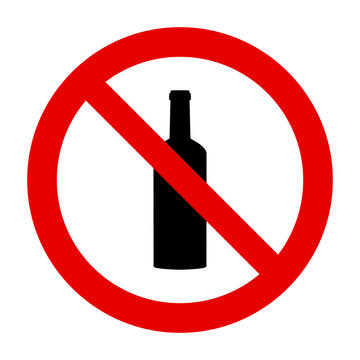 Flasche und Verbotsschild