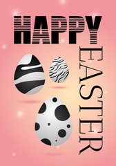 Happy Easter eggs. Vector illustration greeting card, ad, promotion, poster, flyer