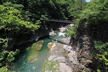 日光国立公園・龍王峡の虹見の橋