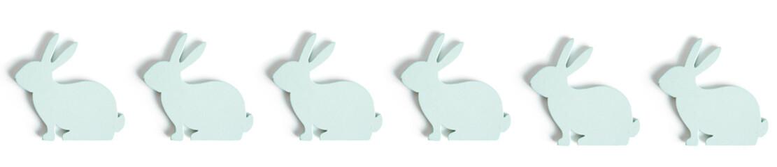 Obraz Wielkanocne ozdoby jajko i królik na białym tle - fototapety do salonu
