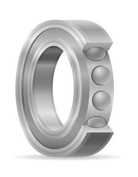 metal ball bearing vector illustration