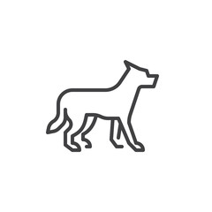 Wolf line icon. linear style sign for mobile concept and web design. Dog outline vector icon. Symbol, logo illustration. Pixel perfect vector graphics