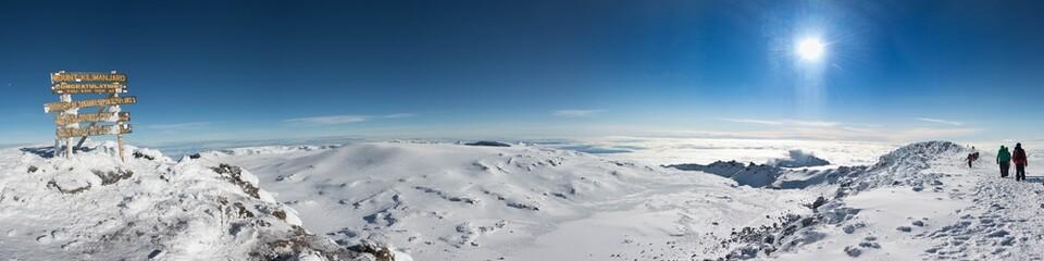 Kilimanjaro Uhuru peak Panorama