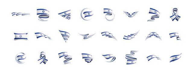 Israel flag, vector illustration on a white background Fototapete