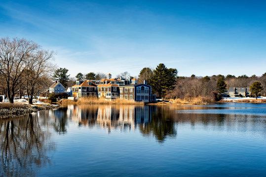 Kennebunkport Maine Winter Batson River