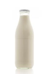Flasche Glas Milch Frischmilch