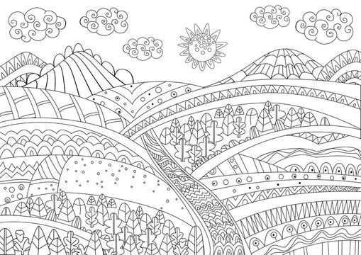 Colouring Pages Farm Photos Royalty Free Images Graphics Vectors Videos Adobe Stock