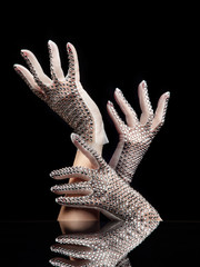 Femme beauté gants