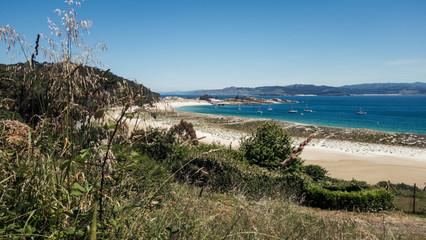 Bucht auf der Isla Ciés in Galizien