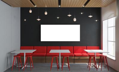 3D rendering modern interior interior room with mockup poster frame