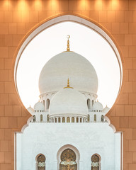 Poster Abou Dabi Sheikh Zayed Grand Mosque in Abu Dhabi near Dubai, United Arab EMirates