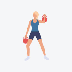 Functional training flat icon