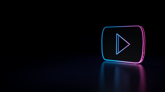 3d icon of youtube