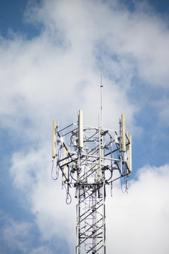 cell phone tower with antennas