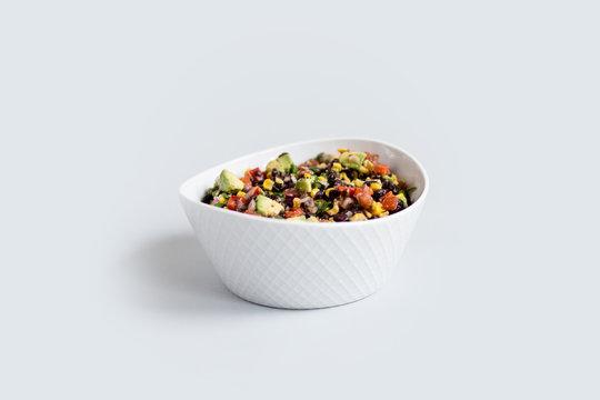 Avocado Bean Salsa Isolated