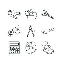 9 office icon set