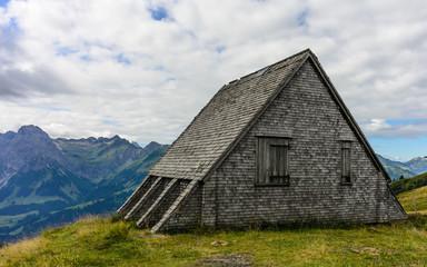 mountain landscape at diedamskopf, bregenzer wald, vorarlberg, austria