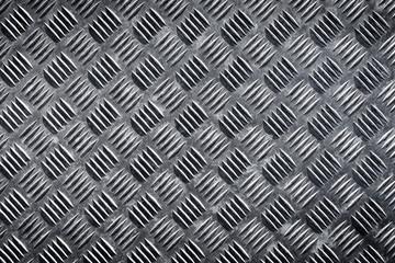 Metal floor plate with diamond pattern texture
