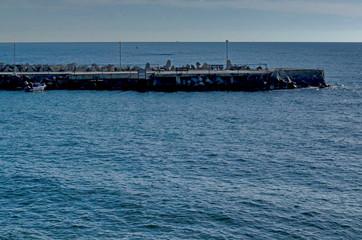 Landscape of Black sea coast  by Nessebar Bulgaria