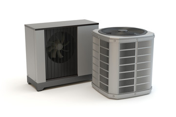 Two types of heat pumps Wall mural